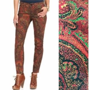 Lucky Brand Paisley Jeans Women's Size 4